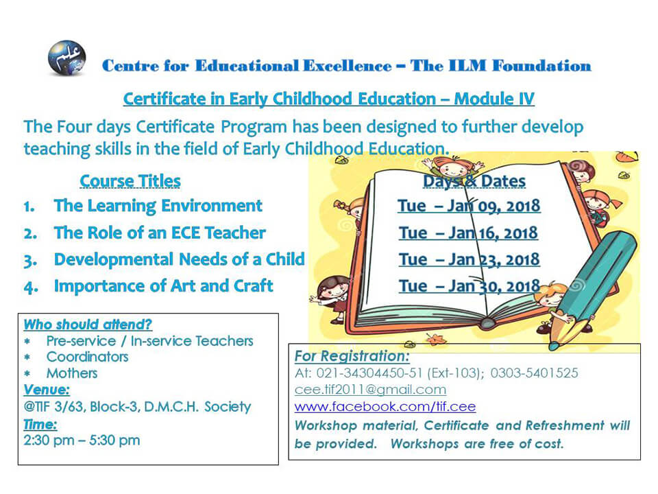 Early Childhood Education And Care Module Iv The Ilm Foundation